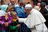 Jautriuose kadruose – susitikimas su popiežiumi: širdis užkariavusios akimirkos
