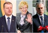 Stebėkite gyvai: pirmieji kandidatų į prezidentus Nausėdos, Šimonytės ir Skvernelio debatai
