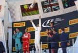 """""""Formulė-1"""" Ispanijoje: avarijos, lenkimai, kilnus Kimio poelgis ir Lewiso triumfas"""