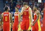Antrasis Donato Motiejūno atstovaujamos ekipos pralaimėjimas NBA lygos Vakarų konferencijos pusfinalyje