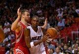 Ikisezoniniame NBA lygos mače Donatas Motiejūnas po krepšiais atkovojo 10 kamuolių