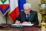 Pokyčiai Italijoje: prezidentas pavedė suformuoti naują vyriausybę