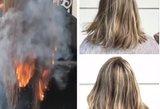 Į kirpėjo kėdę sėda tik drąsiausi: padega klientų plaukus