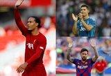 Kas taps metų žaidėju: Van Dijkas, Ronaldo ar Messi?