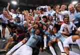 "Fantastiška kova: ""Lazio"" išplėšė Italijos supertaurę"