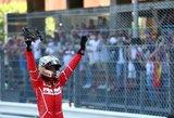 """Monake – """"Ferrari"""" triumfas ir įspūdinga avarija"""