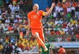 A. Robbenas atsiprašė už vaidybą rungtynėse su Meksika