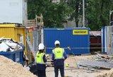 Incidentas statybvietėje: iš 3 aukšto iškrito darbuotojas