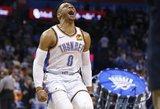 """NBA vėl dreba nuo permainų: """"Thunder"""" iškeitė Westbrooką"""