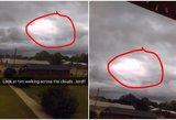 Danguje užfiksuotas keistas reiškinys privers patikėti: tarp debesų – Dievo figūra?