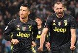 """Ronaldo įvartis mačo pabaigoje """"Juventus"""" ekipai išplėšė pergalę"""