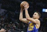 """""""Warriors"""" komandai iki absoliutaus NBA rekordo trūksta tik penkių pergalių"""