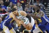 """Šlubuojanti """"Celtics"""" Oklande be gailesčio sudaužė NBA čempionus"""
