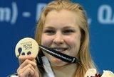 Rūta Meilutytė apgynė pasaulio čempionės titulą: iškovojo auksą 50 m krūtine rungtyje