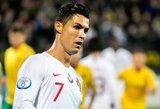 Lietuviams keturis įvarčius susmeigęs Ronaldo: negaliu meluoti, esu laimingas