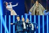 """Paaiškėjo šeši laimingieji, patekę į kitą """"Eurovizijos"""" atrankos etapą"""