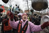 Maskvos komunistai apstulbę: kas į jų mitingą pripirko jaunuolių?