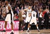 """Pratęsimo dramą išgyvenusi """"Spurs"""" – per žingsnį nuo konferencijos finalo"""