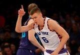 """Latvių buldozerio vedama Niujorko """"Knicks"""" komanda išplėšė ketvirtą pergalę iš eilės"""