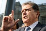 Buvęs Peru prezidentas mėgino nusišauti, kad išvengtų arešto
