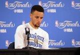 """Stephenas Curry: dėl pralaimėjimo skauda, bet """"Warriors"""" į finalą dar sugrįš"""
