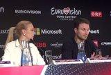 """Vaidas ir Monika """"Eurovizijos"""" konferencijoje demonstravo puikias anglų kalbos žinias!"""