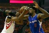 """""""Rockets"""" nesudeda ginklų – namie sutriuškino """"Clippers"""" krepšininkus"""