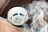 Ugniagesiai įspėja dėl dūmų detektorių ir nurodė į ką atkreipti dėmesį