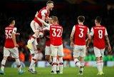 """Fantastišką dublį pelnęs Pepe išplėšė """"Arsenal"""" pergalę prieš grupės autsaiderius"""