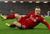 """Anglijos grandų dvikovoje """"Liverpool"""" pergalę garantavo nedidukas šveicaras"""