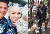 """Natalija Bunkė aplankė tigrus: """"Susidraugauti nebuvo lengva"""""""