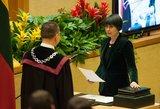 Skvernelio kandidatūros nepalaikiusi valstietė Dovilė Šakalienė: kyla abejonių