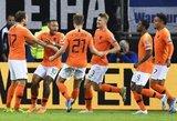 Nyderlandai 4 įvarčiais parbloškė Vokietijos rinktinę