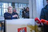 """Grybauskaitė balsavo už dirbantį ir """"nevagiantį"""" kandidatą"""