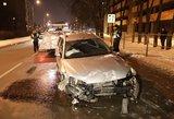 Vilniuje girtas vairuotojas sukėlė avariją ir bandė bėgti