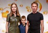 Egidijų Dragūną į naujo TV3 sezono atidarymą atlydėjo širdies draugė ir sūnus