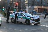 Toje pačioje Vilniaus sankryžoje ir vėl policijos avarija