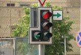 Keičiamas eismas vienoje judriausių sostinėje Geležinio Vilko ir Ukmergės gatvių sankryžoje