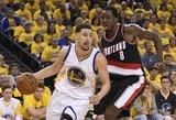 """Be Stepheno Curry  žaisdamas """"Warriors"""" dar kartą įveikė """"Trail Blazers"""""""
