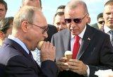 Rusijos ir Turkijos lyderių pasimatymas: mėgavosi ledais