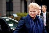 Kodėl Dalia Grybauskaitė nenori komentuoti politikų pasisakymų?