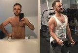 Vos 58 kg svėręs Vaitiekūnas džiaugiasi ryškiais kūno pokyčiais: priaugo raumenų