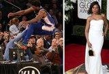 NBA žvaigždė vos sunkiai nesužalojo garsios JAV aktorės
