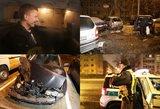Naktį Vilniuje girtas BMW vairuotojas suniokojo stovinčius keturis automobilius ir spruko