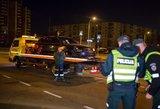 Naktį Vilniuje visai girtas vairuotojas sukėlė didelę avariją
