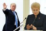 D.Grybauskaitė stoja šalia D.Trumpo: šis darbas – būtinas