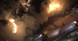 Milžiniškas gaisras niokoja miestą: gyventojai – neviltyje