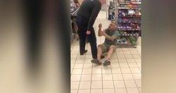 Konfliktas Panevėžio parduotuvėje – aiškėja, kodėl pratrūko apsauginis