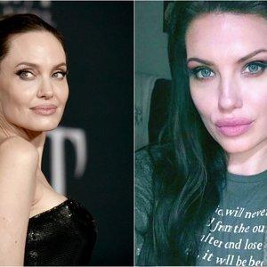 Nuotraukoje – tik viena Jolie: ar suprasite, kur jos antrininkė?