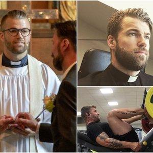 Dėl šio vyro moterys eina iš proto: sunku patikėti, kad jis – kunigas